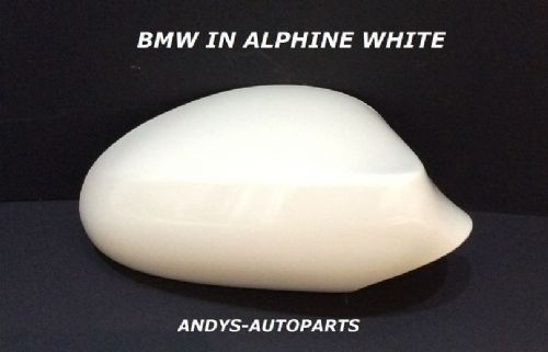 BMW 1 SERIES 04-09 GENUINE WING MIRROR COVER L/H OR R/H IN ALPHINE WHITE